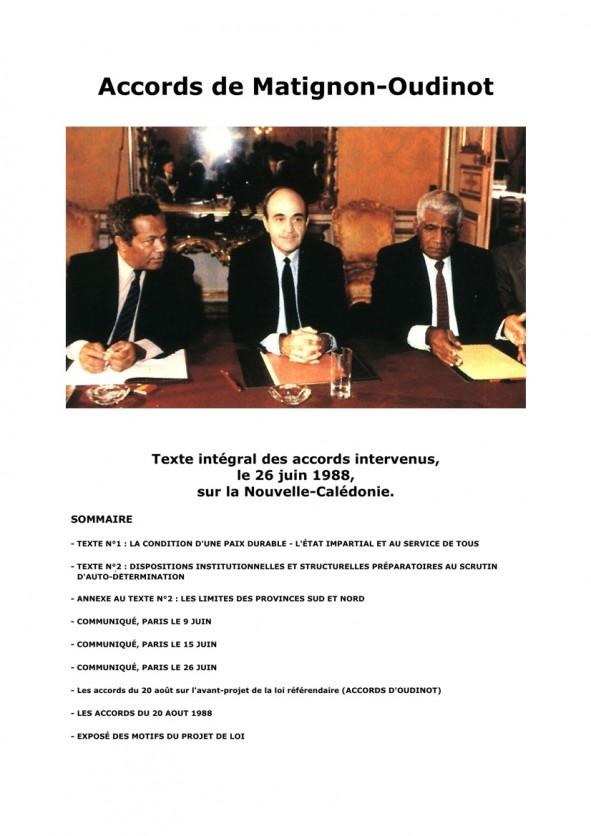 Une Accords de Matignon-Oudinot