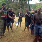 Carrefour des jeunes AJKM 2015 à la tribu de Mia, Canala